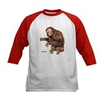 Red Uakari Monkey (Front) Kids Baseball Jersey
