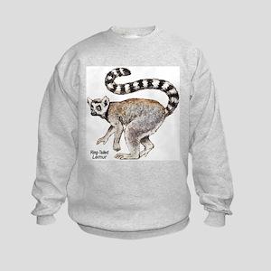 Ring-Tailed Lemur (Front) Kids Sweatshirt