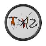 Tailz Large Wall Clock