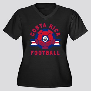 Costa Rica Football Plus Size T-Shirt