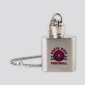 Costa Rica Football Flask Necklace