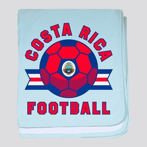 Costa Rica Football baby blanket
