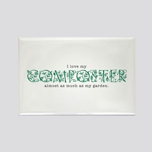 I Love My Composter Rectangle Magnet