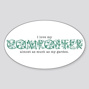 I Love My Composter Oval Sticker