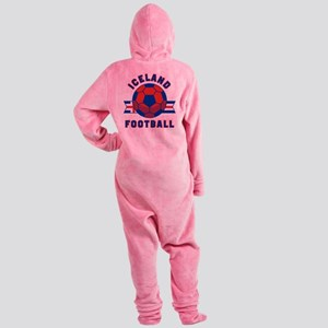 Iceland Football Footed Pajamas