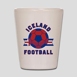 Iceland Football Shot Glass