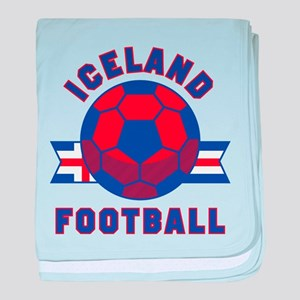 Iceland Football baby blanket
