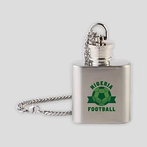 Nigeria Football Flask Necklace