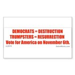 Democratdestruction Sticker