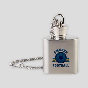 Sweden Football Flask Necklace