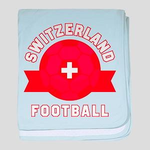 Switzerland Football baby blanket