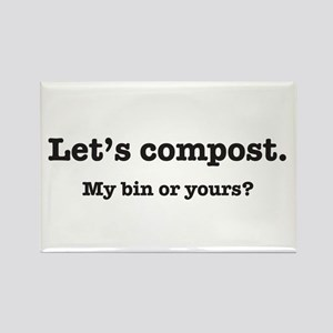 Let's Compost Rectangle Magnet