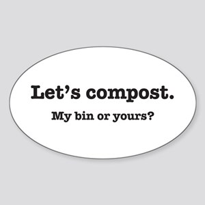 Let's Compost Oval Sticker