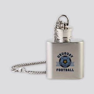 Uruguay Football Flask Necklace