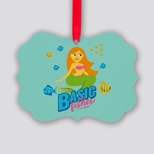 Emojione Mermaid Basic Fishes Picture Ornament