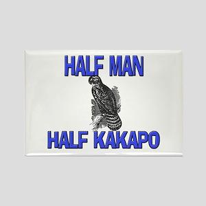 Half Man Half Kakapo Rectangle Magnet