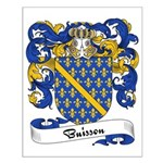 Buisson Family Crest Small Poster