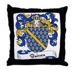 Buisson Family Crest Throw Pillow