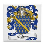 Buisson Family Crest Tile Coaster