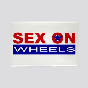 Sex On Wheels Rectangle Magnet