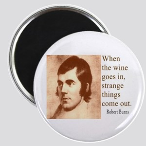 ROBERT BURNS WINE QUOTE Magnet