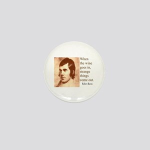 ROBERT BURNS WINE QUOTE Mini Button