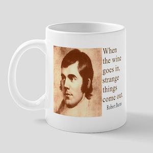 ROBERT BURNS WINE QUOTE Mug