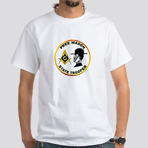 Masonic State Trooper White T-Shirt