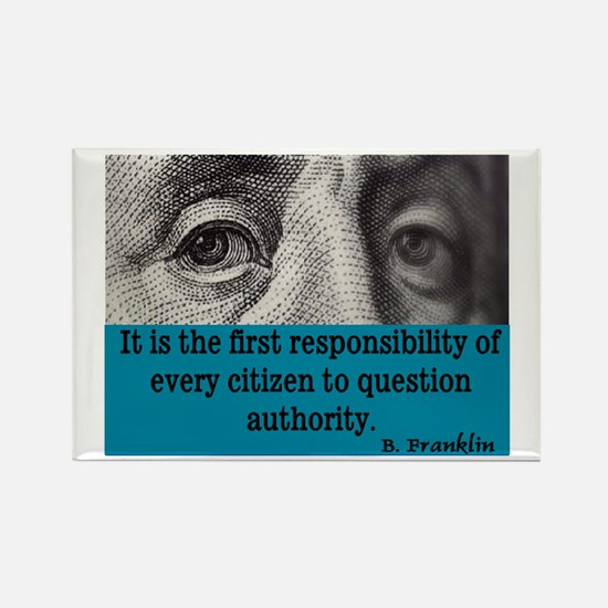 BEN FRANKLIN QUOTE Rectangle Magnet