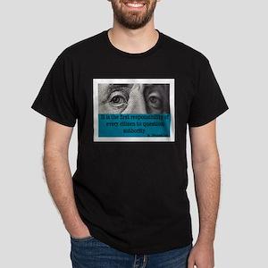 BEN FRANKLIN QUOTE Dark T-Shirt