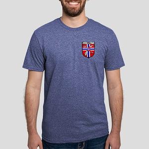 Norway Soccer Shield Mens Tri-blend T-Shirt