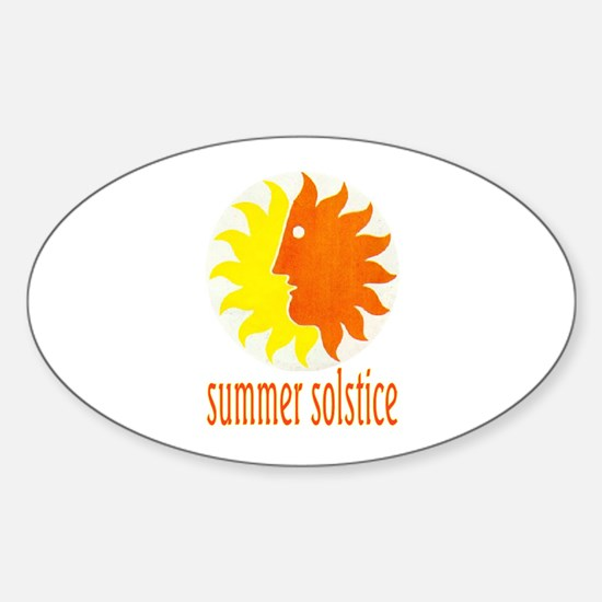 SUMMER SOLSTICE Oval Decal