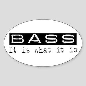 Bass Is Oval Sticker