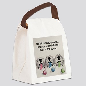 Knitting sheep Canvas Lunch Bag