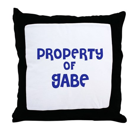 property of gabe throw pillow by outfitter
