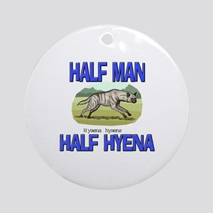 Half Man Half Hyena Ornament (Round)