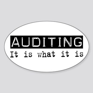 Auditing Is Oval Sticker