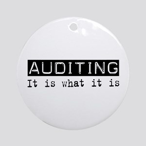 Auditing Is Ornament (Round)