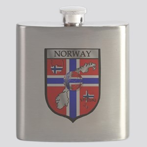 Norway Soccer Shield Flask