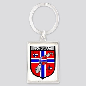 Norway Soccer Shield Keychains