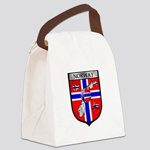 Norway Soccer Shield Canvas Lunch Bag