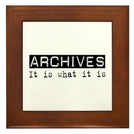 Archives Is Framed Tile