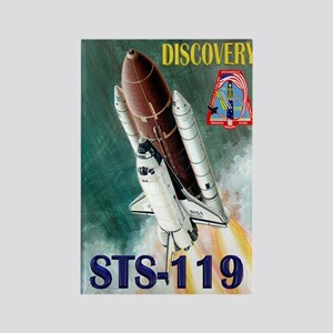 Mission Poster STS 119 Rectangle Magnet
