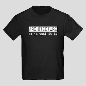 Architecture Is Kids Dark T-Shirt