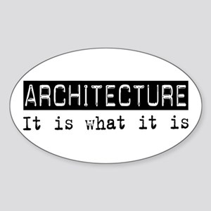 Architecture Is Oval Sticker