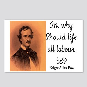 POE LIFE QUOTE Postcards (Package of 8)