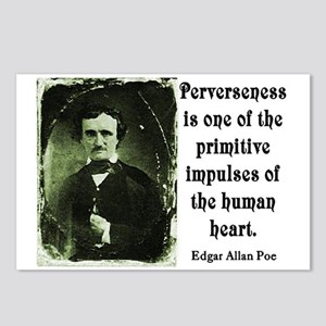 POE PERVERSENESS QUOTE Postcards (Package of 8)