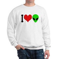 I Love Aliens (design) Sweatshirt