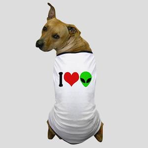 I Love Aliens (design) Dog T-Shirt