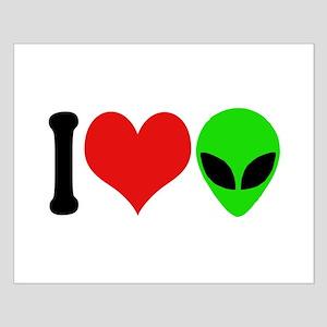 I Love Aliens (design) Small Poster